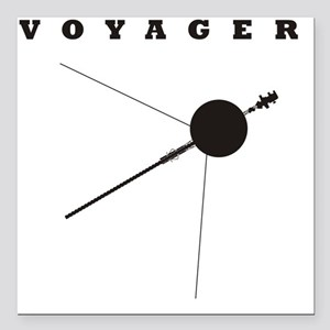 "Voyager_Silhouette_RK201 Square Car Magnet 3"" x 3"""