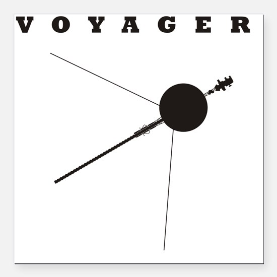 """Voyager_Silhouette_RK201 Square Car Magnet 3"""" x 3"""""""
