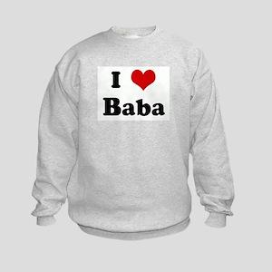 I Love Baba Kids Sweatshirt