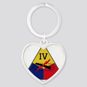 IV Armored Corps Heart Keychain