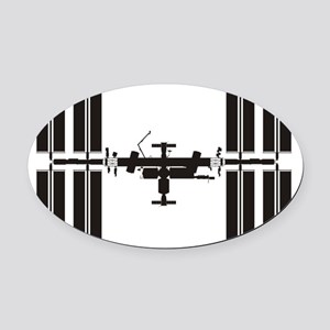 ISS_Drawing_RK2011_10x10 Oval Car Magnet