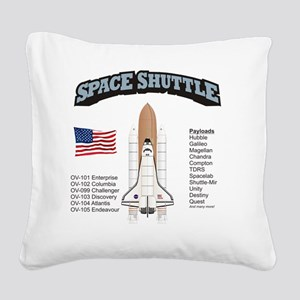 Shuttle_History_RK2011_10x10 Square Canvas Pillow
