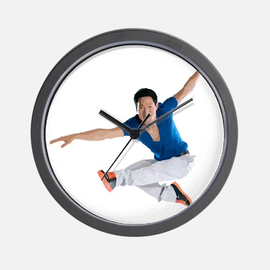 dance5_wht Wall Clock