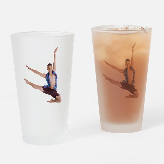 dance12_wht Drinking Glass
