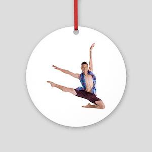dance12_wht Round Ornament