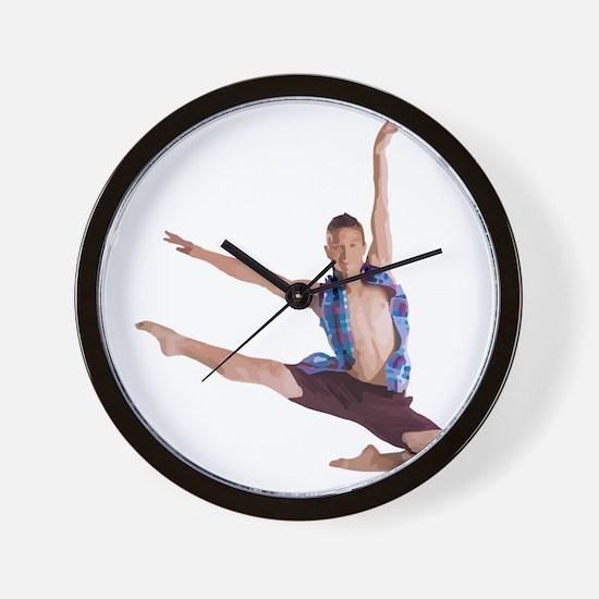 dance12_wht Wall Clock
