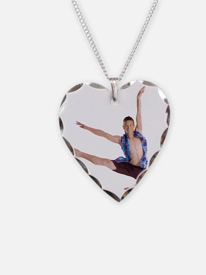 dance12_wht Necklace Heart Charm
