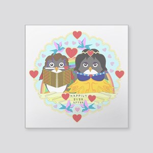 "Happily Ever Afterguins Square Sticker 3"" x 3"""