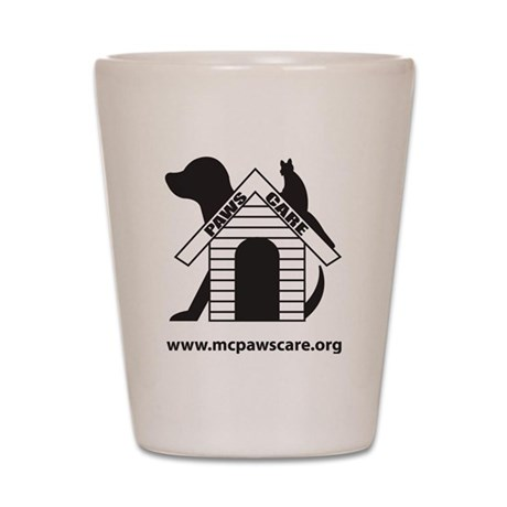 poutlined4 Shot Glass