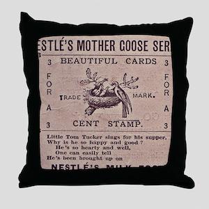 Nestles Mother Goose Series Throw Pillow