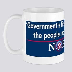 governments_first_duty_nobama_sticker Mug