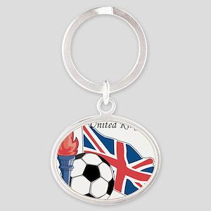 United Kingdom Oval Keychain