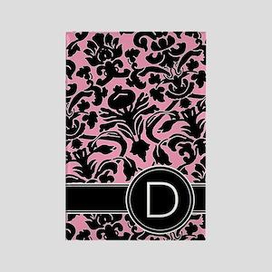 441_black_pink_D Rectangle Magnet