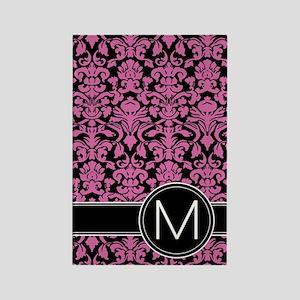 441_black_pink_M2 Rectangle Magnet
