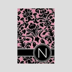 441_black_pink_N Rectangle Magnet
