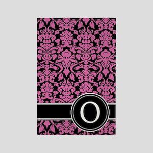 441_black_pink_O2 Rectangle Magnet