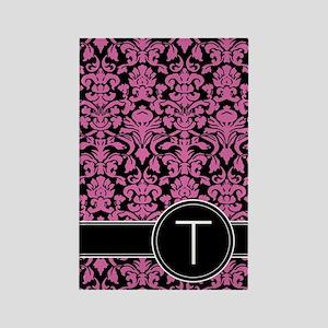 441_black_pink_T2 Rectangle Magnet
