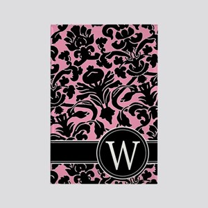 441_black_pink_W Rectangle Magnet