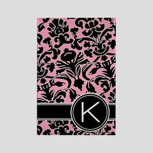 441_black_pink_K Rectangle Magnet
