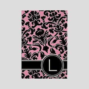 441_black_pink_L Rectangle Magnet