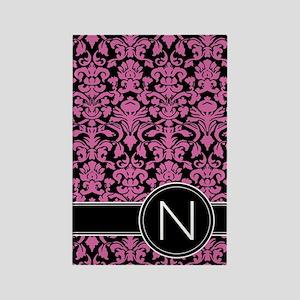 441_black_pink_N2 Rectangle Magnet