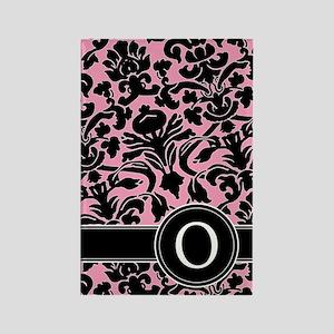 441_black_pink_O Rectangle Magnet
