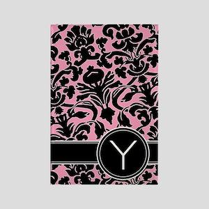 441_black_pink_Y Rectangle Magnet