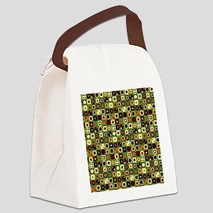 Retro Metro Squares 33m Canvas Lunch Bag
