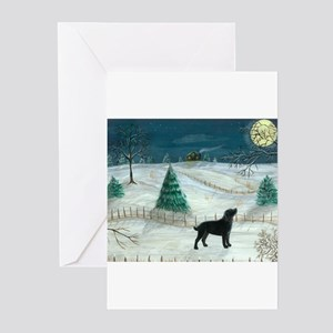 Winter Labrador Greeting Cards