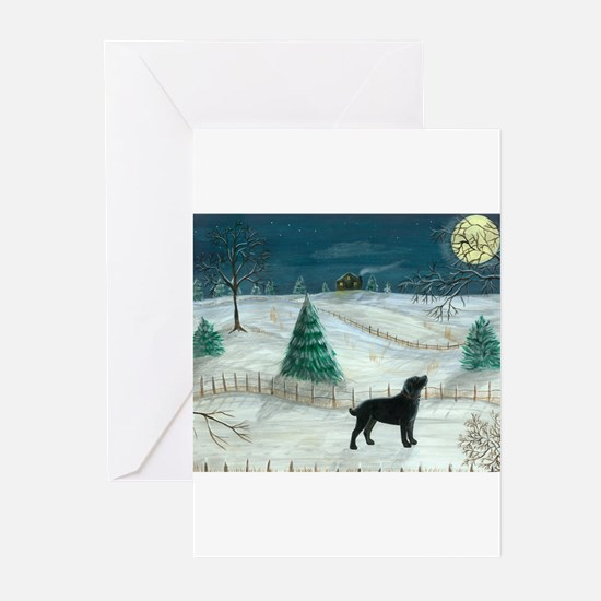 Winter Labrador Greeting Cards