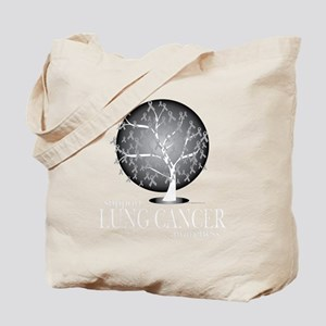 Lung-Cancer-Tree-blk Tote Bag