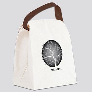 Lung-Cancer-Tree-blk Canvas Lunch Bag