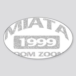 miata zoom 99 Sticker (Oval)