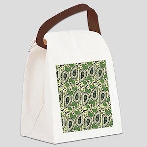 Mint Paisley 32m Canvas Lunch Bag