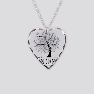 Brain-Cancer-Tree Necklace Heart Charm