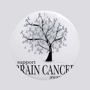 Brain-Cancer-Tree Round Ornament