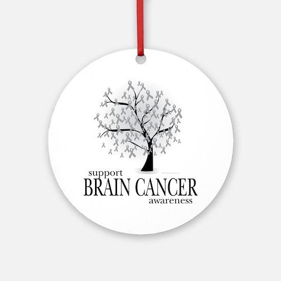 Brain-Cancer-Tree Round Ornament