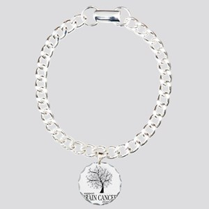 Brain-Cancer-Tree Charm Bracelet, One Charm