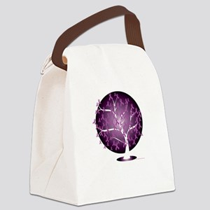 Cystic-Fibrosis-Tree-blk Canvas Lunch Bag