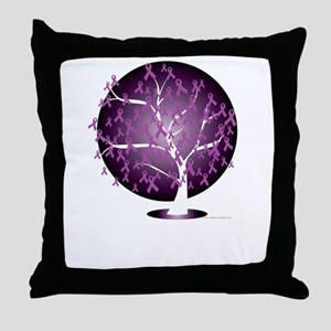 Cystic-Fibrosis-Tree-blk Throw Pillow