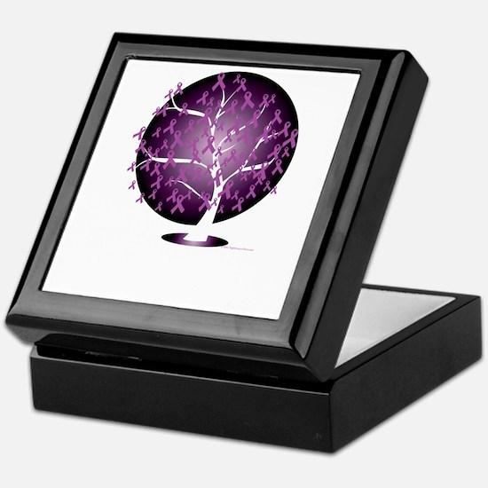 Cystic-Fibrosis-Tree-blk Keepsake Box