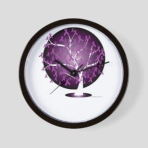 Cystic-Fibrosis-Tree-blk Wall Clock