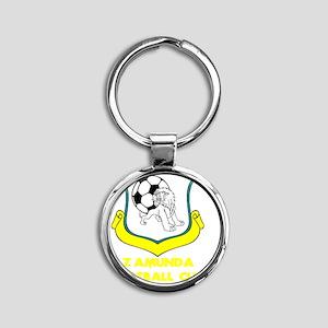 zamundafootbalfan Round Keychain