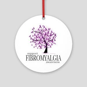 Fibromyalgia-Tree Round Ornament