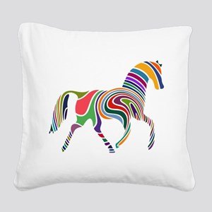 Cute Horse Square Canvas Pillow
