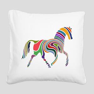 Cute Horse Square Canvas Pillow