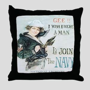 Gee I wish I were a man jr t-shirt Throw Pillow