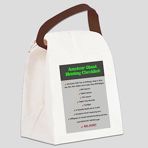 ghost checklist Canvas Lunch Bag