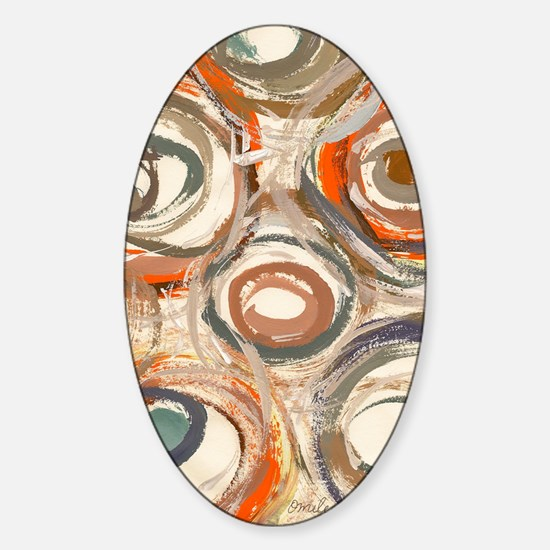 circles panel print Sticker (Oval)