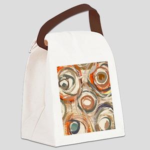 circles panel print Canvas Lunch Bag